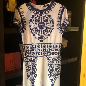 Dresses & Skirts - Blue & white porcelain dress. Brand new!